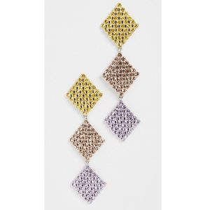 NWT For Love&Lemons Crystal Statement Earrings